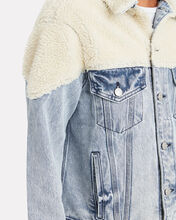 Sherpa Denim Jacket, LIGHT DENIM WASH, hi-res