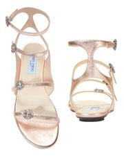 Naia Crystal Buckle Sandals, PINK, hi-res