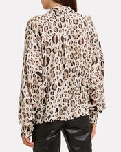 Evelyn Leopard Crepe Blouse, MULTI, hi-res