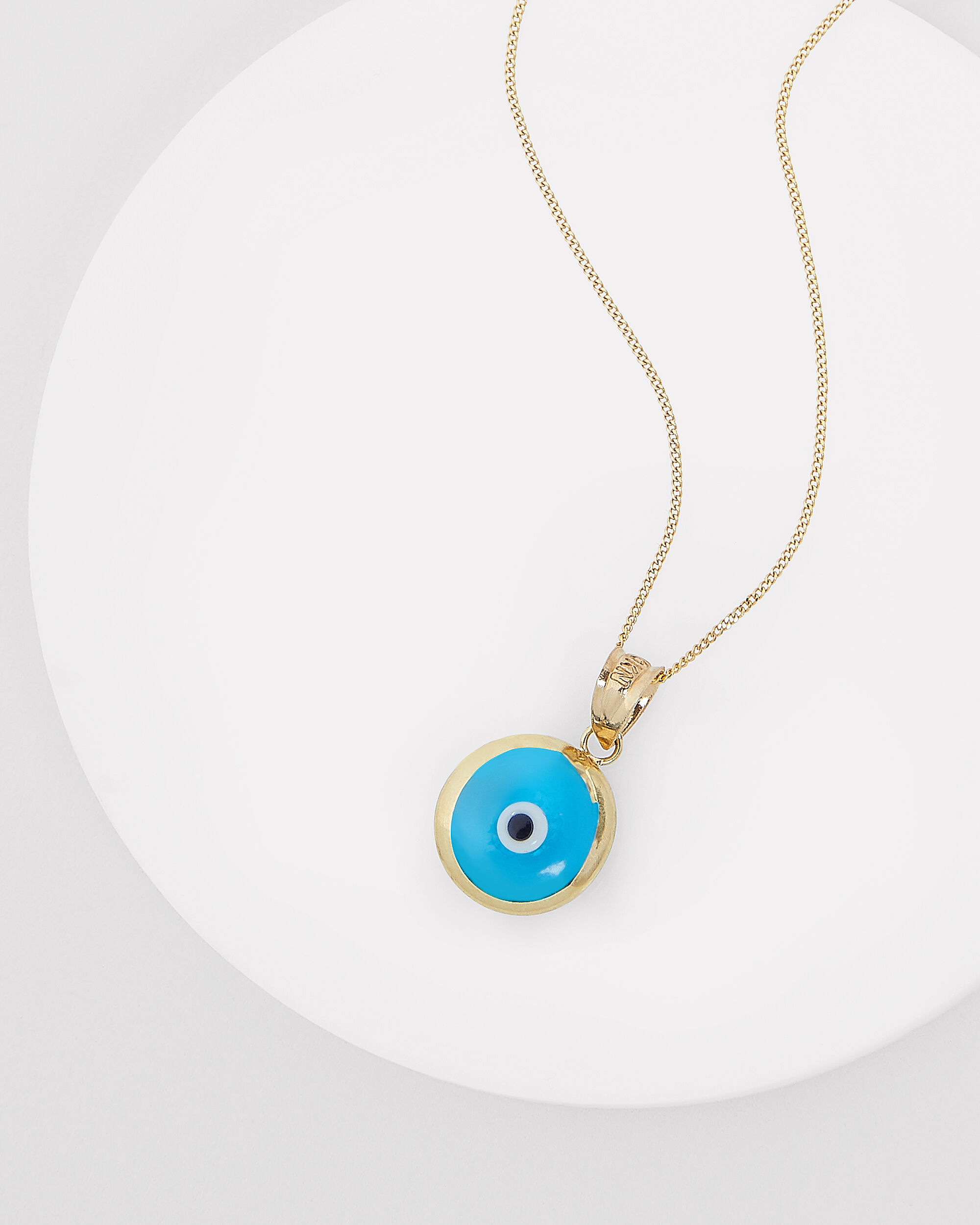 Evil Eye Layering Necklace, GOLD, hi-res