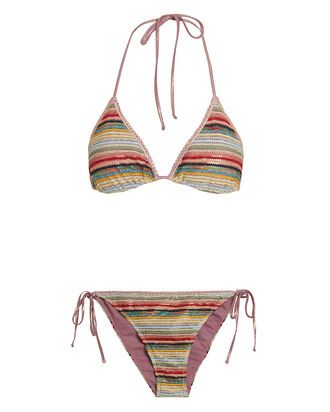 Crochet Rainbow Bikini Set, MULTI, hi-res