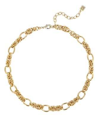 Noir Interlocking Chain Necklace, GOLD, hi-res
