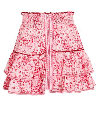 Camila Ruffled Floral Mini Skirt, PINK, hi-res