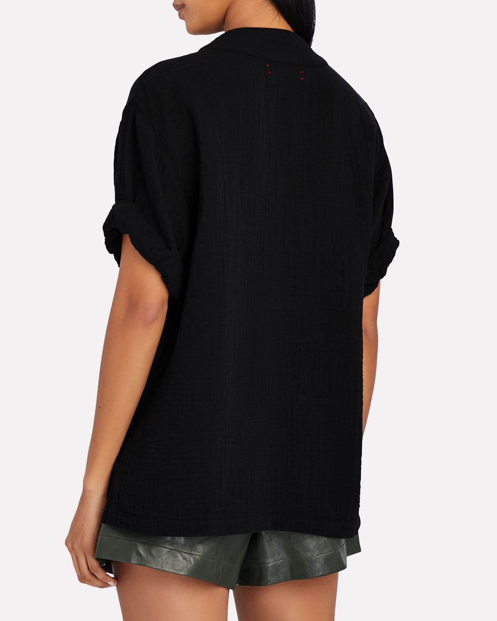 Avery Popover Short Sleeve Top, BLACK, hi-res