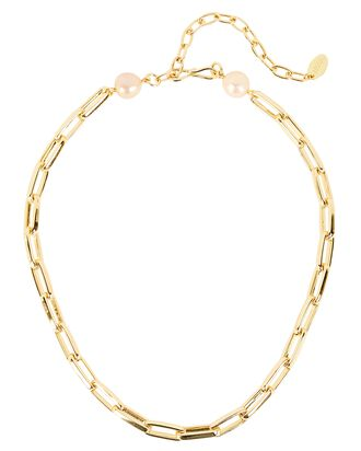 Classico Paperclip Chain Necklace, GOLD, hi-res