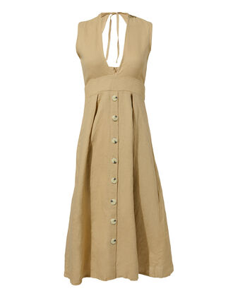 Le Roch Midi Dress, BEIGE, hi-res