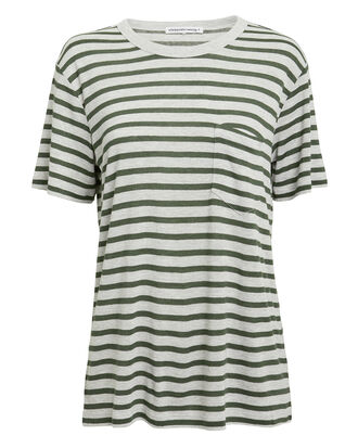 Striped Slub Jersey T-Shirt, GREY/GREEN, hi-res