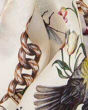 Cameo and Curiosities Silk Scarf, IVORY, hi-res