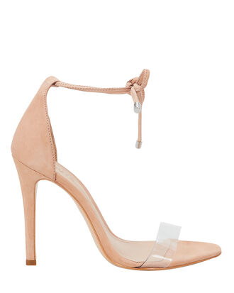 Monique PVC Vamp Strap Sandals, BEIGE, hi-res