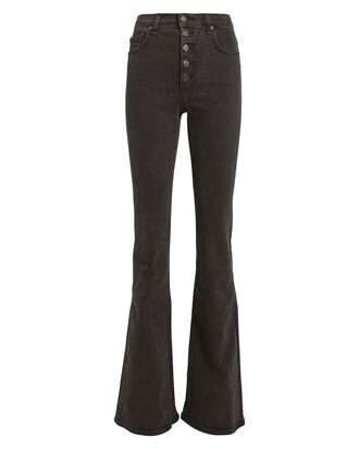 Beverly High-Rise Flared Jeans, CHARCOAL DENIM, hi-res