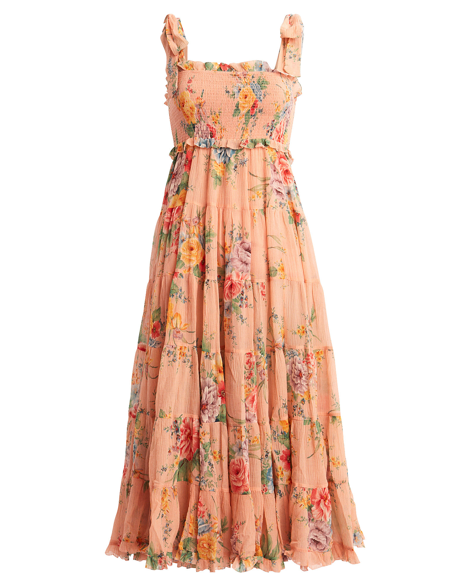 Zinnia Floral Georgette Dress, MULTI, hi-res