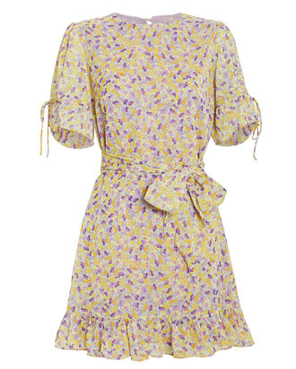 Arlo Floral Dress, YELLOW/FLORAL, hi-res
