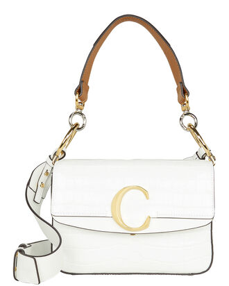 "Small Chloé ""C"" Bag, WHITE, hi-res"