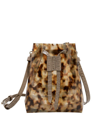 Tortoise PVC Bag, BROWN, hi-res