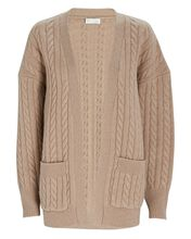 Penny Cable Knit Wool Cardigan, IVORY, hi-res