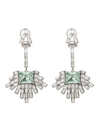 Astra Crystal Drop Earrings, CRYSTAL/MINT, hi-res