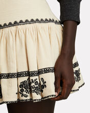 Russel Embroidered Mini Skirt, BEIGE, hi-res