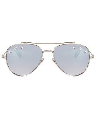 Star Aviator Sunglasses, SILVER, hi-res