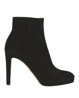 Madison Suede Black Booties, BLACK 2, hi-res