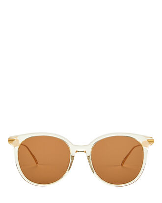 Transparent Oversized Round Sunglasses, CLEAR, hi-res
