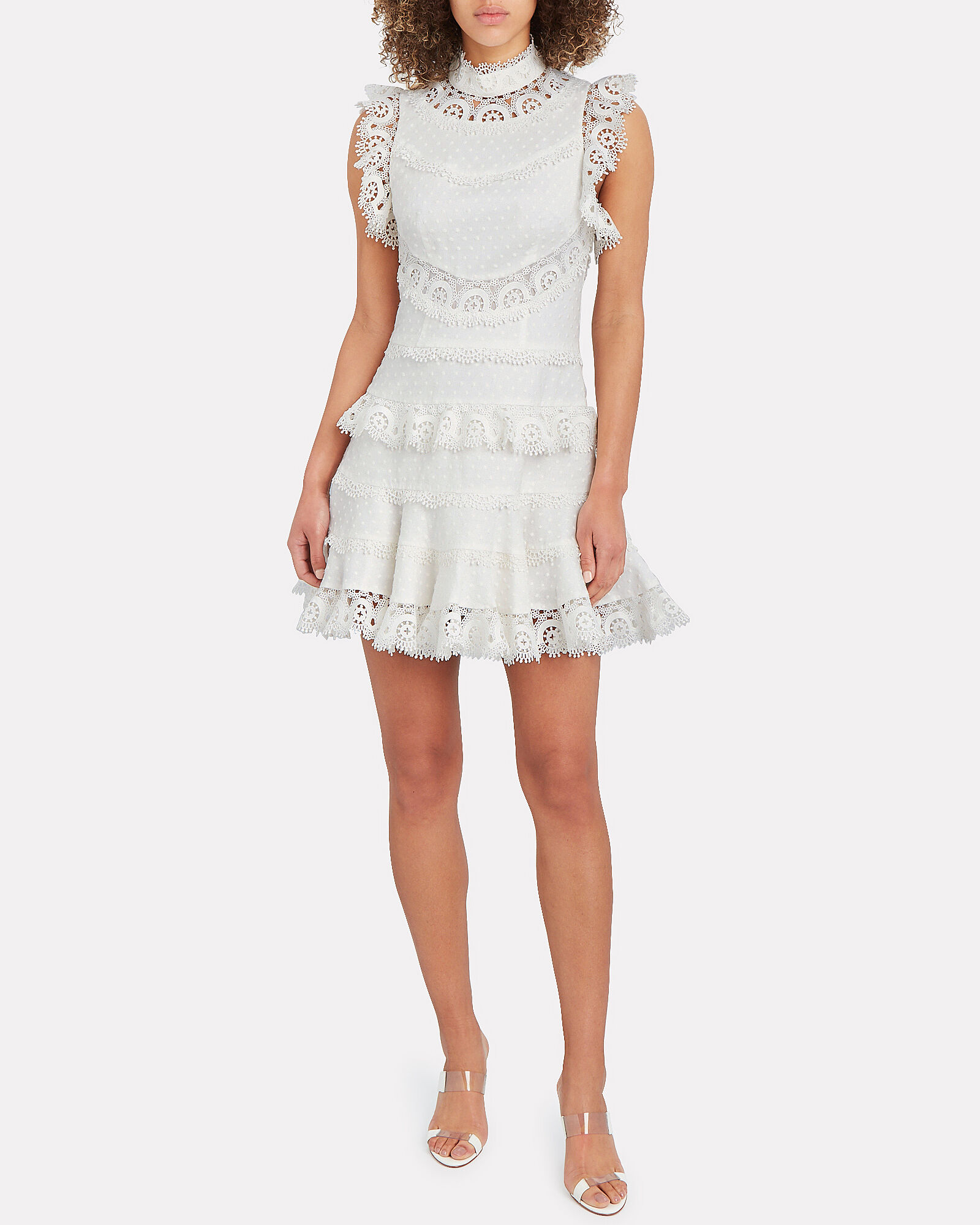 Peggy Embroidered Mini Dress, IVORY, hi-res
