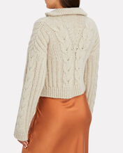 Evie Half-Zip Cable Knit Sweater, BEIGE, hi-res