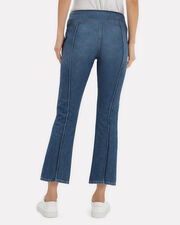 Annabelle Crop Flare Jeans, BLUE/BLACK DENIM, hi-res