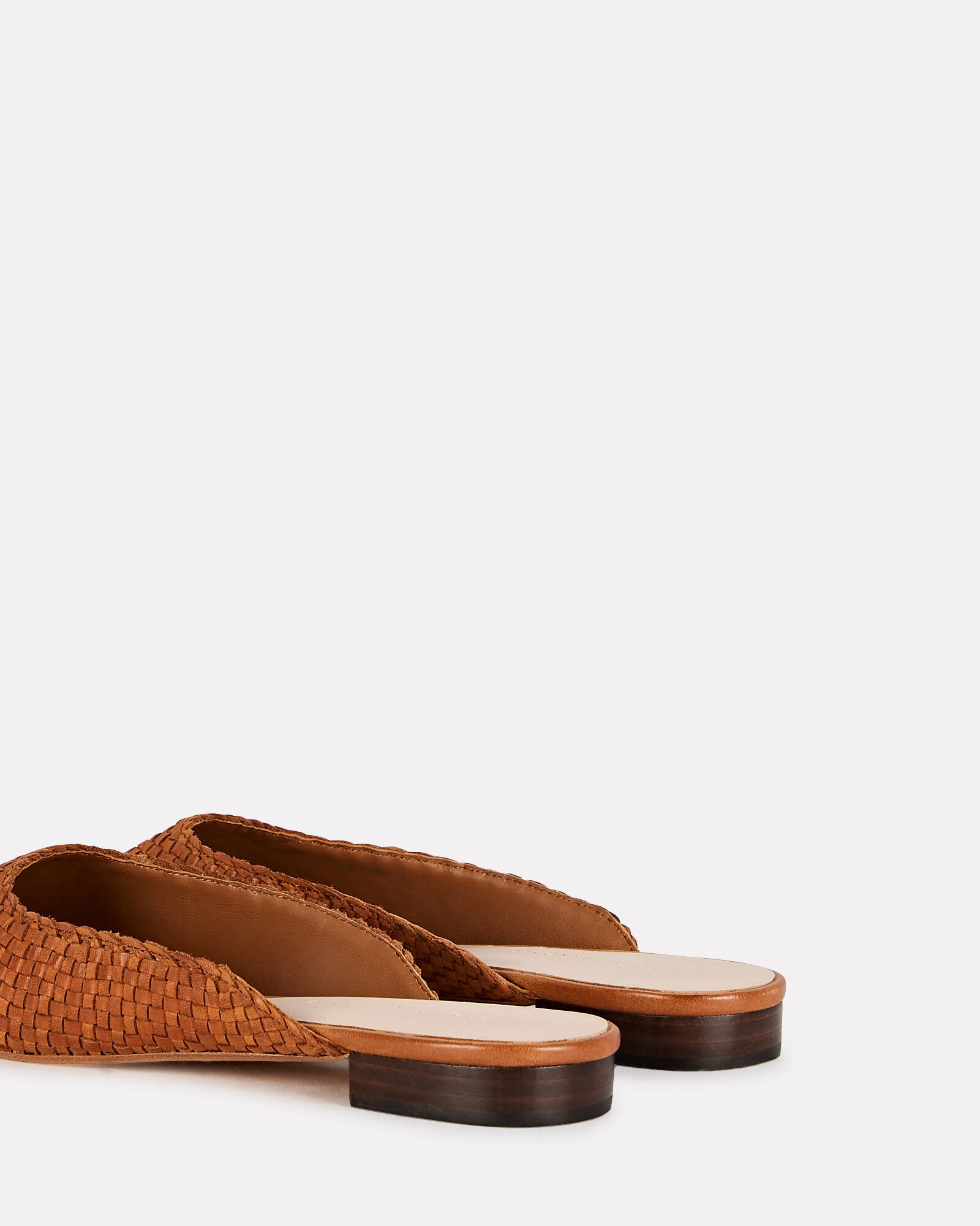 Zosia Leather Mule Flats, BROWN, hi-res