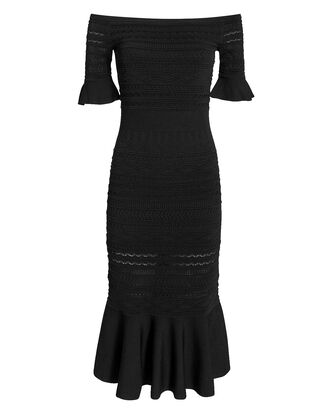 Sheira Knit Midi Dress, BLACK, hi-res