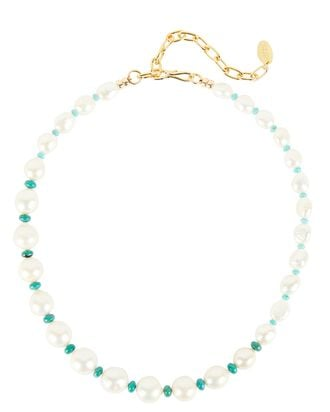Cool Summer Pearl Necklace, WHITE, hi-res