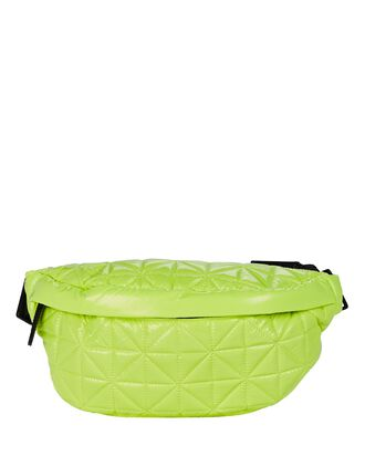 Quilted Fanny Pack, GREEN, hi-res