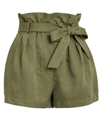 Paperbag Army Shorts, ARMY GREEN, hi-res