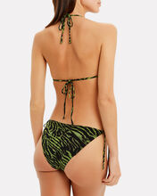 Tiger Print Bikini Top, GREEN/BLACK, hi-res