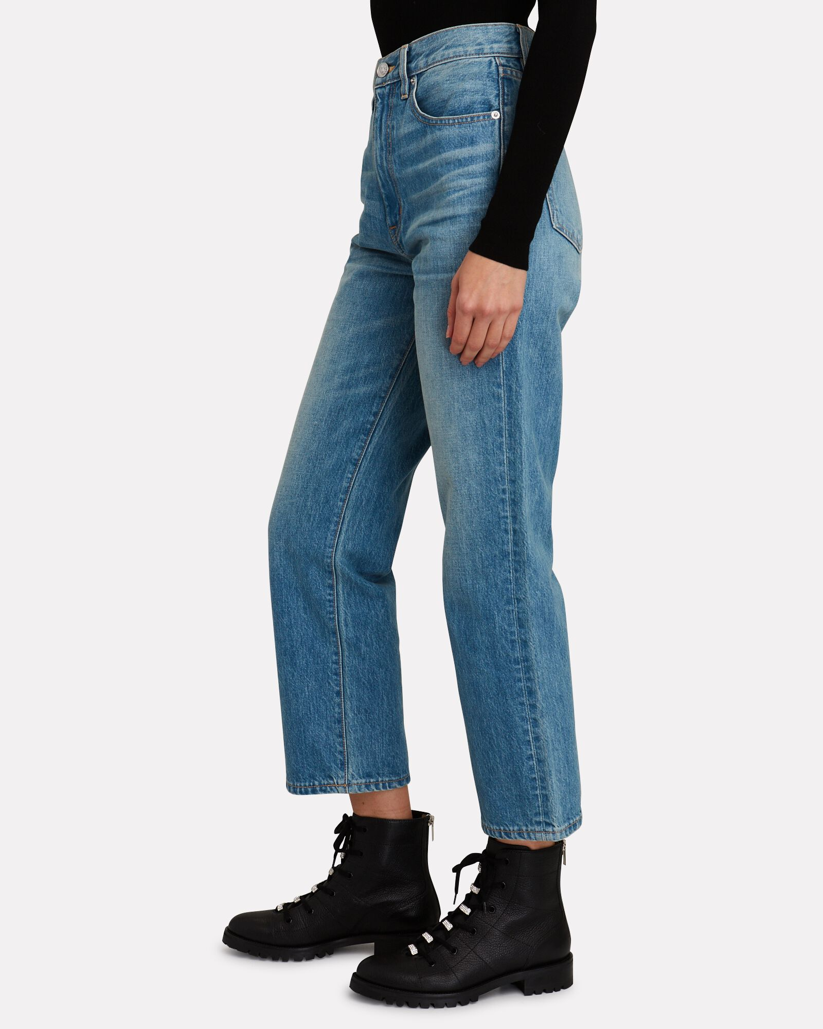 London Cropped High-Rise Jeans, SWEET THING, hi-res