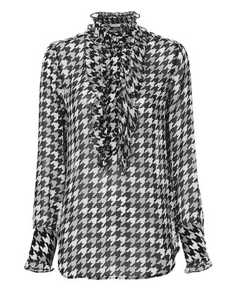 Samine Houndstooth Blouse, MULTI, hi-res