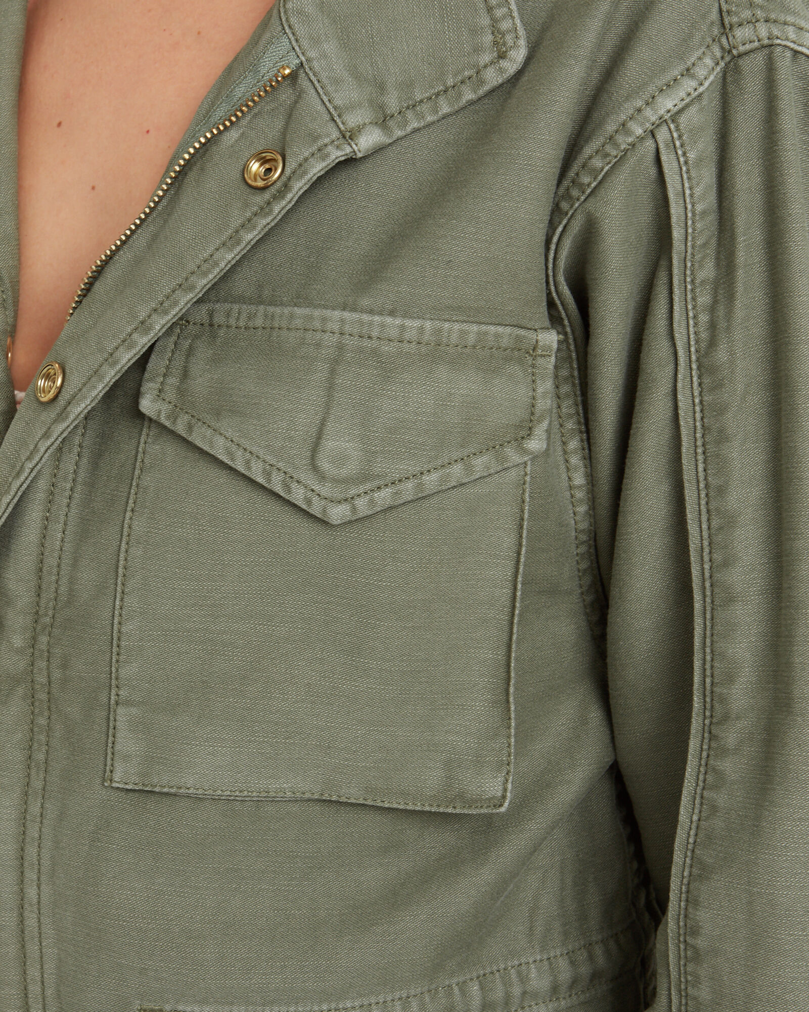 Cotton Military Service Jacket, OLIVE/ARMY, hi-res