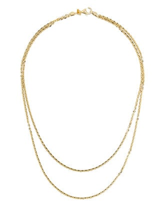Double Layer Necklace, GOLD, hi-res