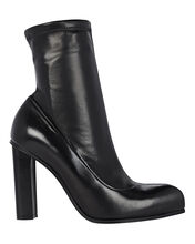 Leather Ankle Booties, BLACK, hi-res