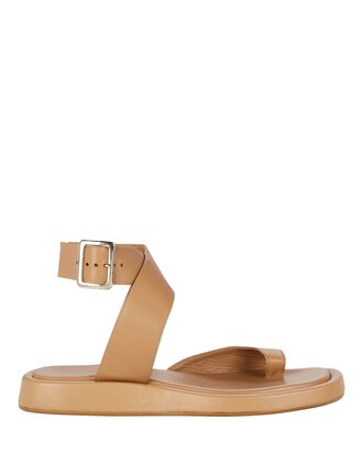 x RHW 4 Toe-Ring Flat Sandals, BEIGE, hi-res