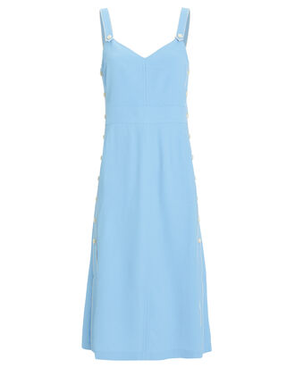 Tia Sleeveless Twill Dress, BLUE-LT, hi-res