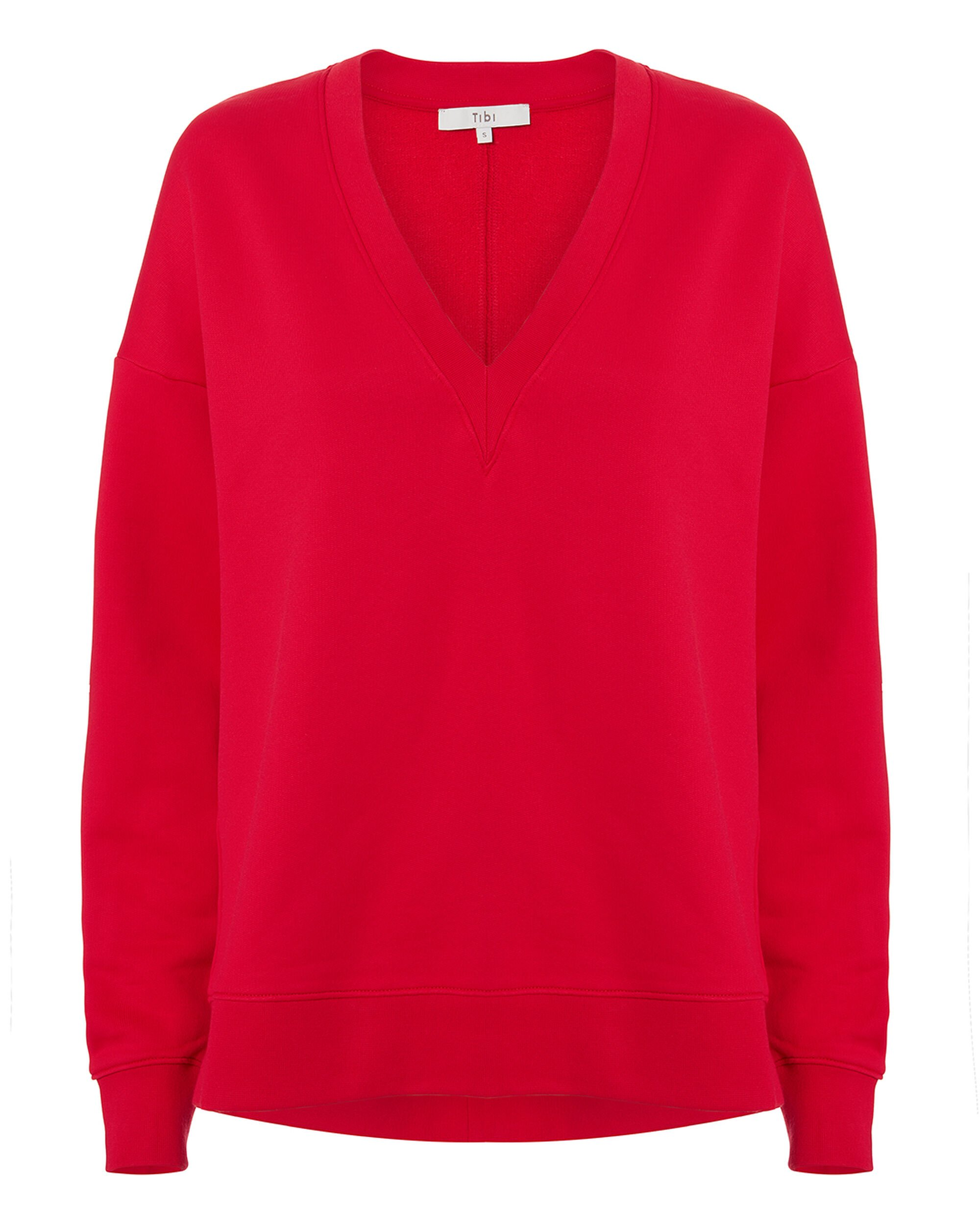 Slouchy Red Sweatshirt, RED, hi-res