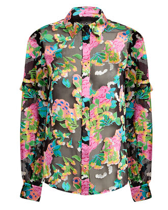 Myra Blouse, BLACK/FLORAL, hi-res