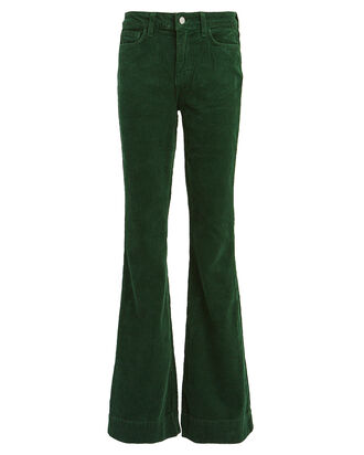 The Affair Flared Corduroy Jeans, MOSS GREEN, hi-res