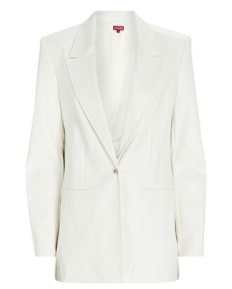 Madden Vegan Leather Blazer, IVORY, hi-res