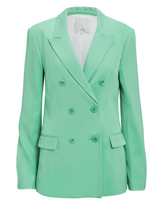Double-Breasted Mint Blazer, MINT, hi-res