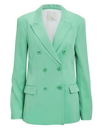 Oversized Mint Green Blazer, GREEN, hi-res