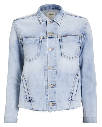 Janelle Cropped Denim Jacket, LIGHT DENIM, hi-res