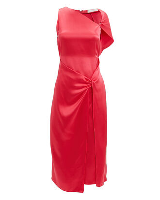Twist Sleeve Drape Dress, MULBERRY, hi-res