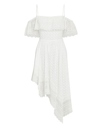 Timoria Embroidered Asymmetrical Dress, WHITE, hi-res