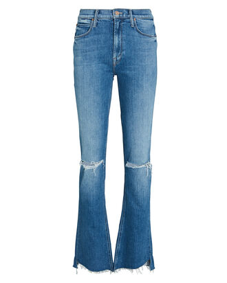 Runway Step Fray Bootcut Jeans, SPICE IT UP, hi-res